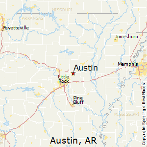 Austin,Arkansas Map