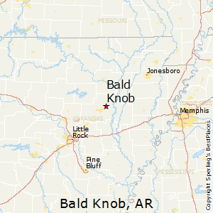 Bald_Knob,Arkansas Map