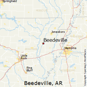 Beedeville,Arkansas Map