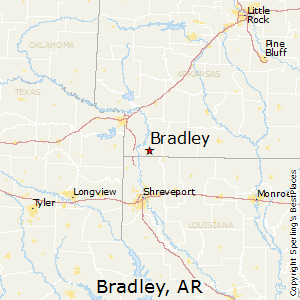 Bradley,Arkansas Map