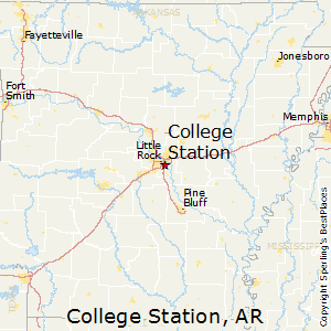 College_Station,Arkansas Map