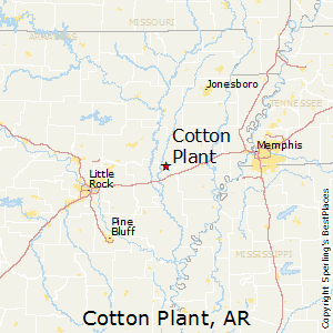 Cotton_Plant,Arkansas Map