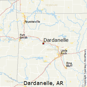 Dardanelle,Arkansas Map