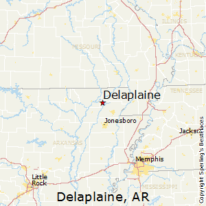 Delaplaine,Arkansas Map