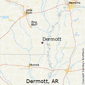 Dermott,Arkansas Map