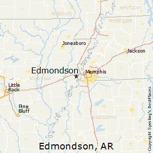 Edmondson,Arkansas Map
