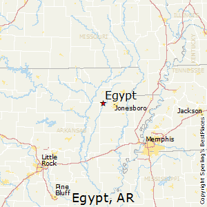 Egypt,Arkansas Map