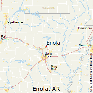 Enola,Arkansas Map
