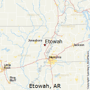 Etowah,Arkansas Map