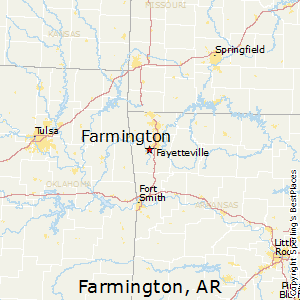 Farmington,Arkansas Map