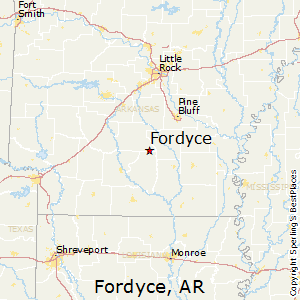 Fordyce,Arkansas Map