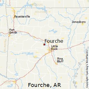 Fourche,Arkansas Map