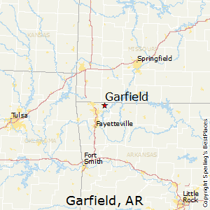 Garfield,Arkansas Map