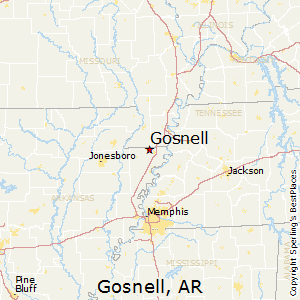 Gosnell,Arkansas Map