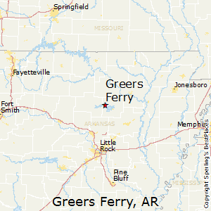 Greers_Ferry,Arkansas Map
