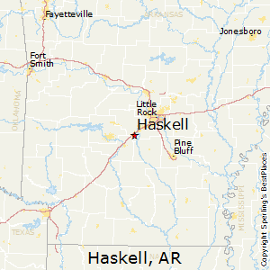Haskell,Arkansas Map