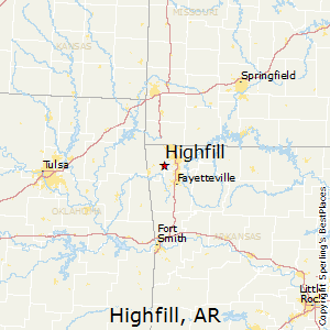Highfill,Arkansas Map