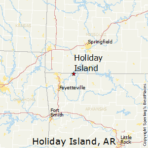 Holiday_Island,Arkansas Map