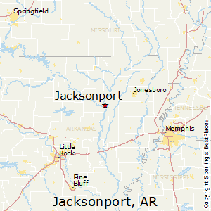 Jacksonport,Arkansas Map