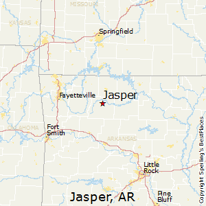 Jasper,Arkansas Map