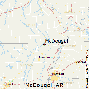 McDougal,Arkansas Map