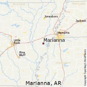 Marianna,Arkansas Map