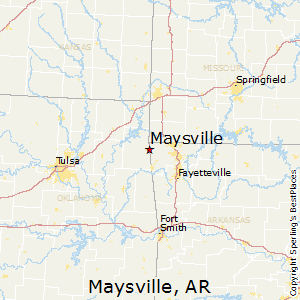 Maysville,Arkansas Map