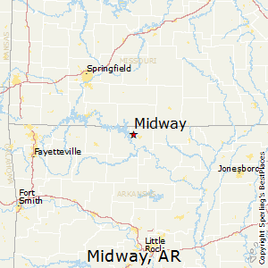 Midway,Arkansas Map
