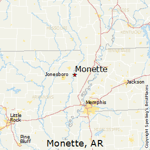 Monette,Arkansas Map