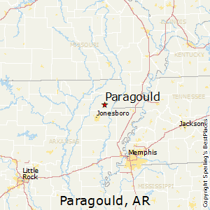 Paragould,Arkansas Map