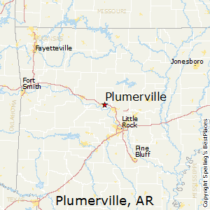 Plumerville,Arkansas Map