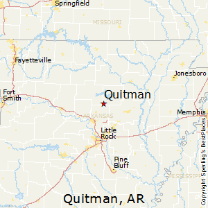 Quitman,Arkansas Map