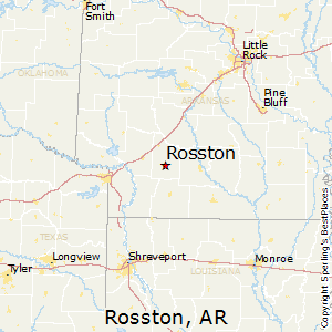 Rosston,Arkansas Map