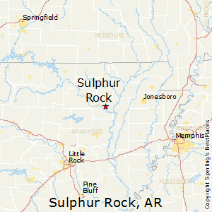 Sulphur_Rock,Arkansas Map
