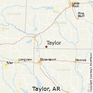 Taylor,Arkansas Map
