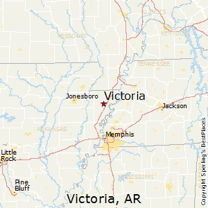 Victoria,Arkansas Map