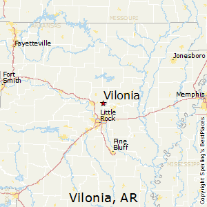 Vilonia,Arkansas Map