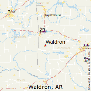 Waldron,Arkansas Map