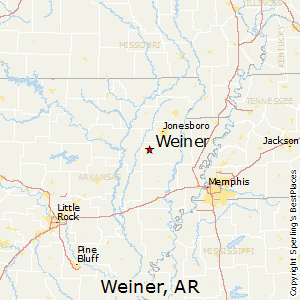 Weiner,Arkansas Map