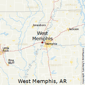 West_Memphis,Arkansas Map