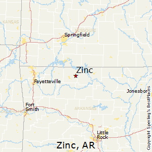Zinc,Arkansas Map