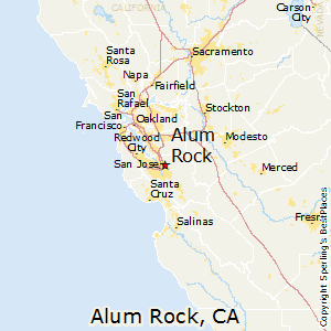 Alum_Rock,California Map