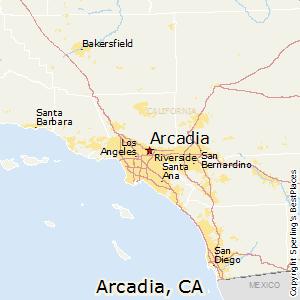 Comparison Rowland Heights California Arcadia California