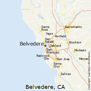 Belvedere,California Map