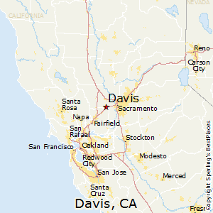Davis,California Map