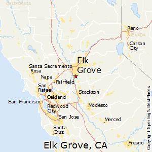 Elk_Grove,California Map