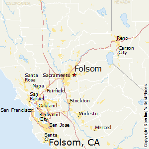 Folsom,California Map