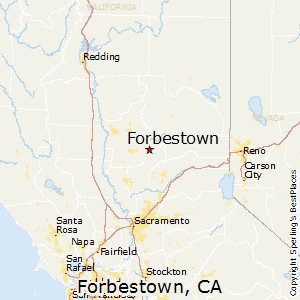 Forbestown,California Map