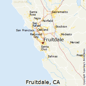 Fruitdale,California Map