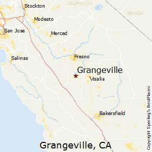 Grangeville,California Map
